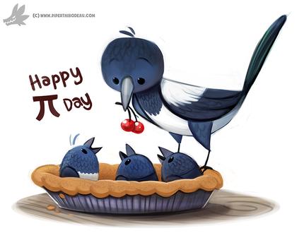 Фото Сорока с вишней с птенчики в пироге (Happy П day), by Cryptid-Creations