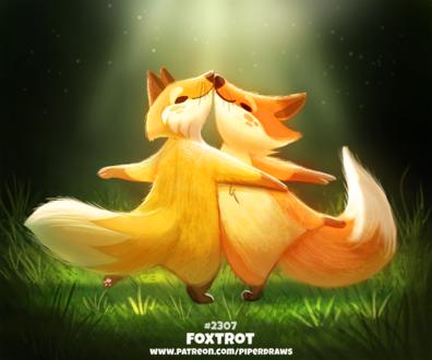 Фото Две лисички в танце (Foxtrot), by Cryptid-Creations
