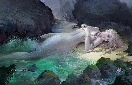 Фото Русалка у воды, by Taiwei bi