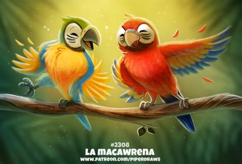 Фото Два попугайчика в танце (La Macawrena), by Cryptid-Creations