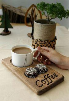 Фото Чашка кофе в руке девушки, (coffe / кофе)
