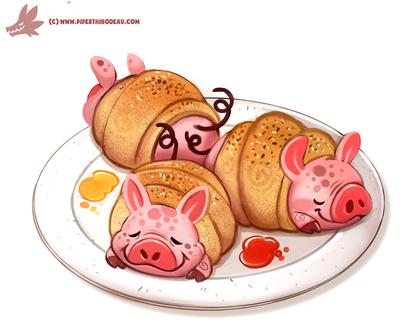 Фото Свинки-рулетики на тарелке, by Cryptid-Creations
