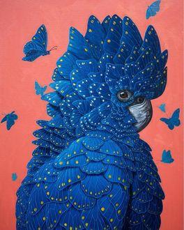Фото Попугай из крылышек бабочек, by Jon Ching