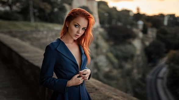 Фото Модель Катя стоит на фоне природы, by Georgy Chernyadyev