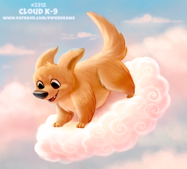 Фото Песик на облаке (Cloud K-9), by Cryptid-Creations
