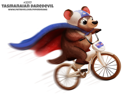 Фото Тасманский дьявол на велосипеде (Tasmanian Daredevil), by Cryptid-Creations