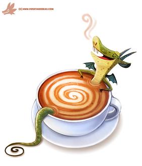 Фото Дракончик в кружке с кофе, by Cryptid-Creations