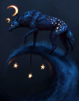 Фото Волк со звездами на шерсти, by JadeMerien