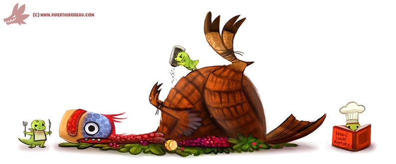 Фото Маленькие динозаврики готовят птицу, by Cryptid-Creations