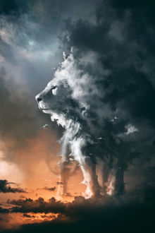 Фото Облачный лев, by zbush