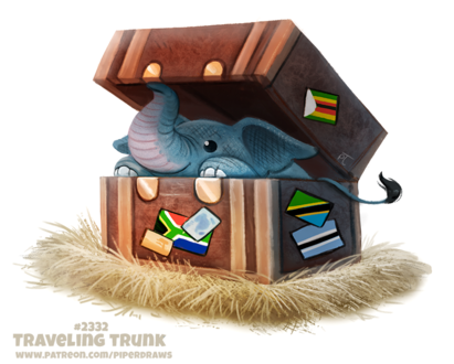 Фото Слоник в дорожном сундуке (Traveling Trunk), by Cryptid-Creations
