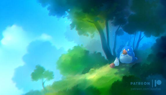 Фото Тоторо / Totoro из аниме My Neighbor Totoro / Tonari no Totoro / Мой сосед Тоторо, by Apofiss