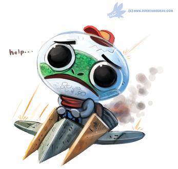 Фото Космический лягушонок на самолете, by Cryptid-Creations