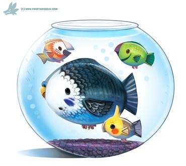 Фото Рыба в образе попугаев, by Cryptid-Creations