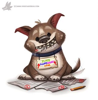 Фото Собака с бумагой в пасти, by Cryptid-Creations
