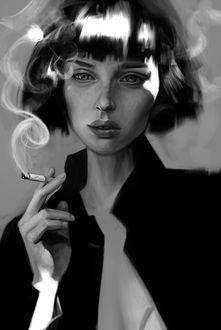 Фото Девушка с сигаретой в руке, by Igor Kozhanov
