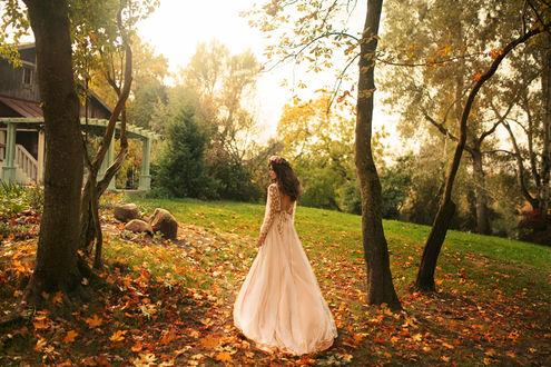 Фото Девушка в свадебном платье на природе. Фотограф Stas Pushkarev