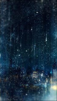 Фото Город во время дождя