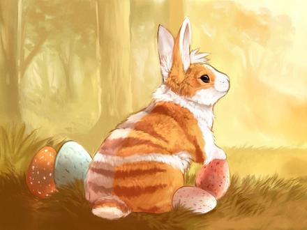 Фото Кролик и пасхальные яйца, by Limecrumble