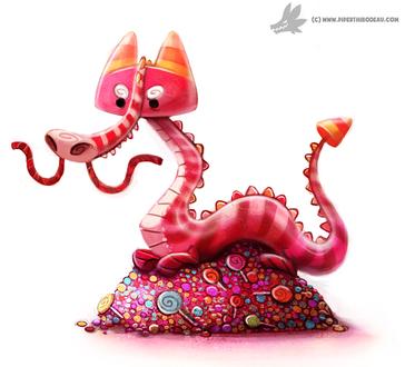 Фото Розовый дракон на конфетах, by Cryptid-Creations
