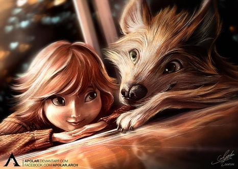 Фото Девушка и волк, by Apolar