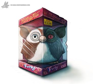Фото Ферби в коробке, by Cryptid-Creations