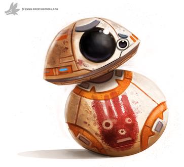 Фото BeBe-Eight / Биби-восемь / BB-8 из фильма Star Wars / Звездные войны, by Cryptid-Creations
