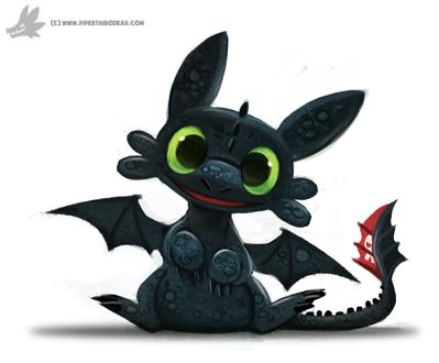 Фото Toothless, Night Fury / Ночная Фурия Беззубик из мультфильма How to Train Your Dragon / Как приручить дракона, by Cryptid-Creations