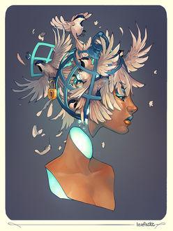 Фото Портрет девушки с птицами на голове by Eksafael