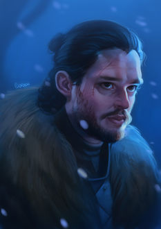 Фото Джон Сноу / Jon Snow персонаж книг и телесериала Игра престолов / Game of Thrones, by Lucas Cordda