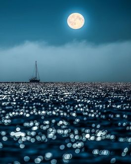Фото Полная луна над Финляндией, фото Sami Takarautio