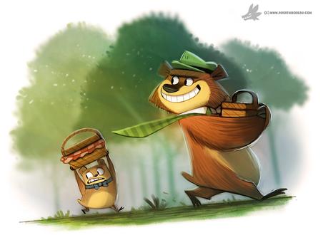 Фото Yogi Bear / Мишка Йоги и Boo Boo Bear / Медвежонок Бу-Бу из мультфильма The Yogi Bear Show / Шоу Мишки Йоги, by Cryptid-Creations