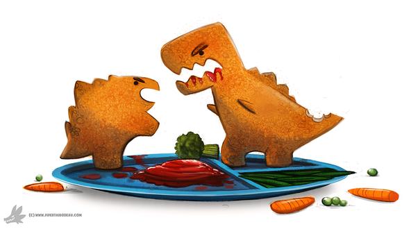 Фото Съедобные динозаврики на тарелке, by Cryptid-Creations