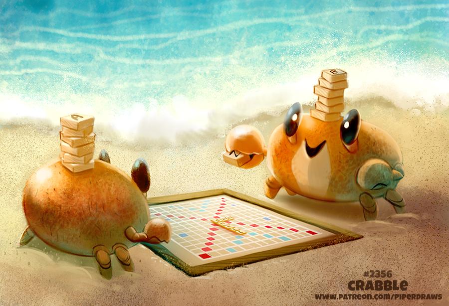 Фото Два крабика играют в настольную игру (Crabble), by Cryptid-Creations