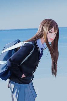 Фото Девушка - школьница с сумкой на плече, от gangsta-g