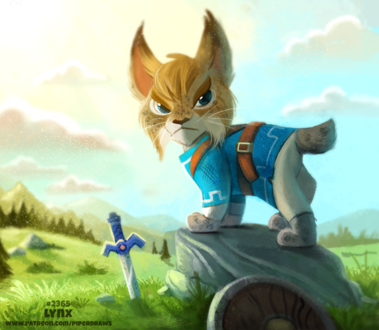 Фото Рысь в образе Wolf Link из игры The Legend of Zelda Collection (Lynx), by Cryptid-Creations