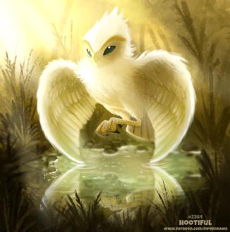 Фото Мистическая птица над водой (Hootiful), by Cryptid-Creations