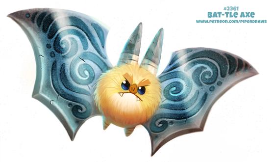Фото Мистическая летучая мышка (Bat-TLE Axe), by Cryptid-Creations