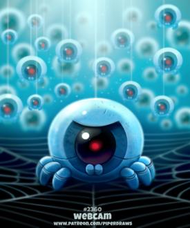 Фото Глазное яблоко в образе робота паука (Webcam), by Cryptid-Creations