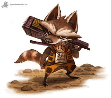 Фото Rocket Raccoon / Реактивный Енот фильма Guardians of the Galaxy / Стражи Галактики, by Cryptid-Creations