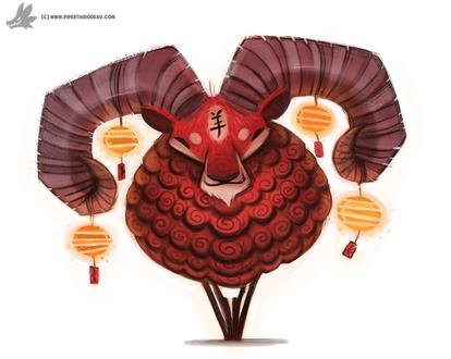 Фото Китайский красный козел, by Cryptid-Creations