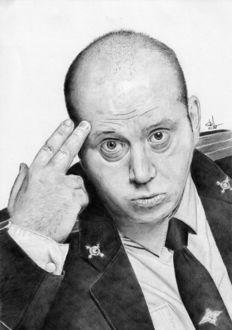 Фото Портрет карандашом Сергея Бурунова