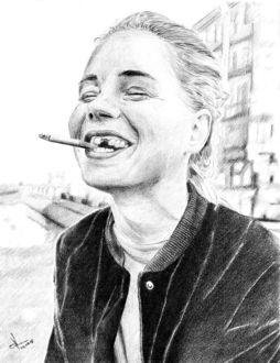 Фото Рисунок карандашом девушки с сигаретой. Автор Алексей Паршуков, alex_darkart