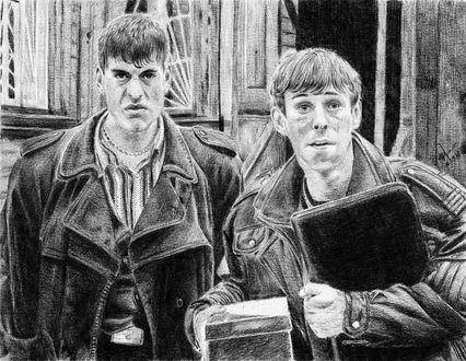 Фото Рисунок карандашом по фильму Жмурки. Автор Алексей Паршуков, alex_darkart
