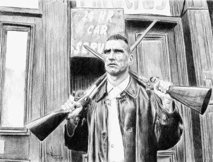 Фото Рисунок по фильму Карты, Деньги, Два ствола. Автор Алексей Паршуков, alex_darkart