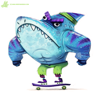 Фото Акула на скейтборде, by Cryptid-Creations