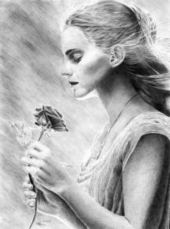 Фото Рисунок карандашом по фильму Красавица и чудовище. Автор Алексей Паршуков, alex_darkart