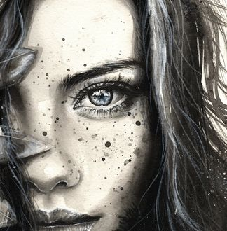 Фото Черно-белый портрет девушки, автор Bridget G