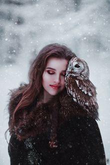 Фото Девушка с совой на плече, фотограф Светлана Беляева