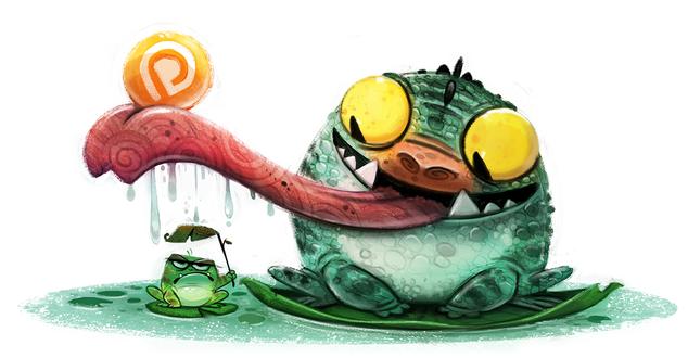 Фото Большая лягушка держит язык над маленьким, by Cryptid-Creations